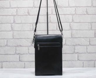 Мъжка чанта черна естествена кожа XYPV-24592