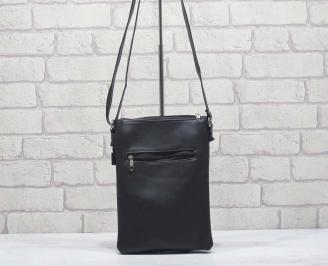 Мъжка чанта черна естествена кожа WZRY-24597