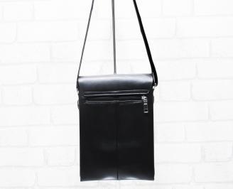 Мъжка чанта черна естествена кожа JODJ-25392