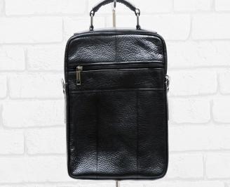 Мъжка чанта черна естествена кожа DBTM-26469