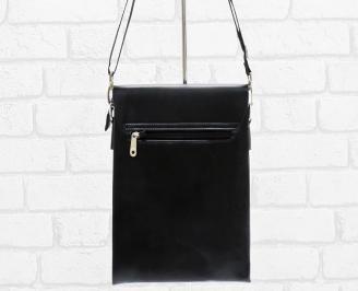 Мъжка чанта черна естествена кожа JXZP-26470