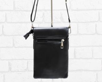 Мъжка чанта черна естествена кожа GPKE-26472