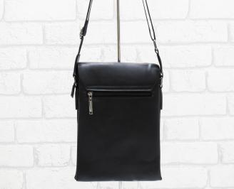 Мъжка чанта черна естествена кожа TOYK-26473