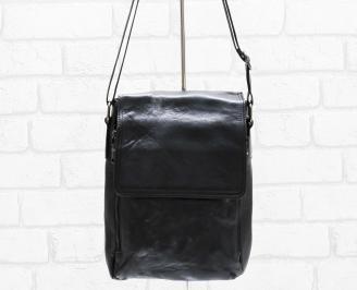Мъжка чанта черна естествена кожа TIYY-26476