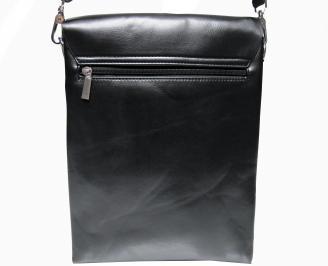 Мъжка чанта черна естествена кожа QMXK-26480