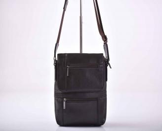 Мъжка чанта естествена кожа кафява   NYHJ-1015559
