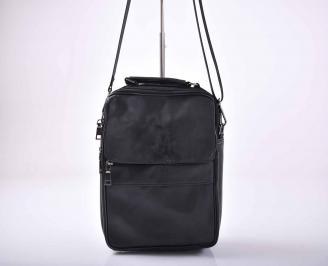 Мъжка чанта естествена кожа черна   IOZW-1015561