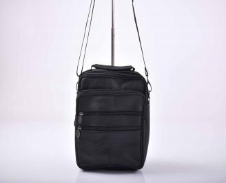 Мъжка чанта естествена кожа черна   YSKS-1015562