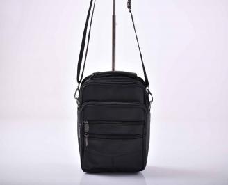 Мъжка чанта естествена кожа черна   KTZX-1015565