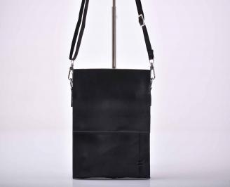 Мъжка чанта естествена кожа черна   WCRW-1015583