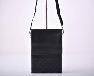 Мъжка чанта естествена кожа черна   PPRS-1015584
