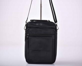 Мъжка чанта естествена кожа черна   OLXF-1015587