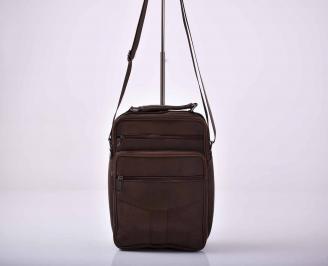 Мъжка чанта естествена кожа черна   FFBM-1015589
