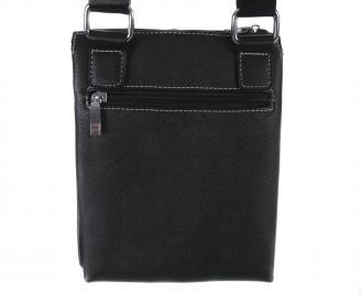 Мъжка чанта естествена кожа черен XCAE-17749