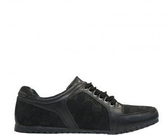 Мъжка обувка естествена кожа черни CXAW-10098