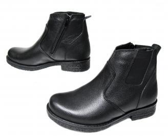 Мъжки боти черни естествена кожа GZMZ-22700