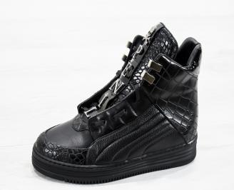 Мъжки  боти еко кожа черни YTFN-25619