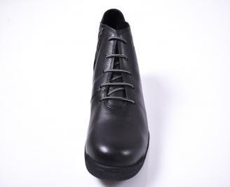 Мъжки боти естествена кожа черни JQII-1013196