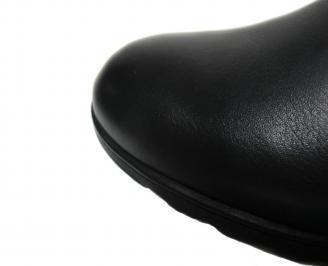 Мъжки боти естествена кожа черни HJDK-20534