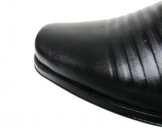 Мъжки боти естествена кожа черни VTHY-20541