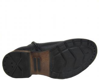 Мъжки боти естествена кожа черни XCLA-20568