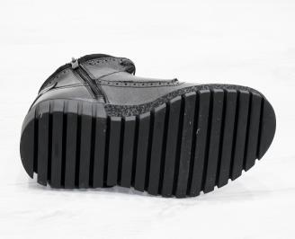 Мъжки  боти естествена кожа черни RQEU-25613