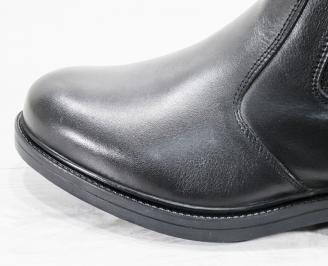 Мъжки  боти естествена кожа черни CILM-25621