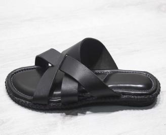 98efa26ae34 Мъжки чехли естествена кожа черни ZLWL-24671 - Чехли и сандали