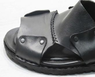 3441d20e25d Мъжки чехли естествена кожа черни CKMZ-24673 - Чехли и сандали