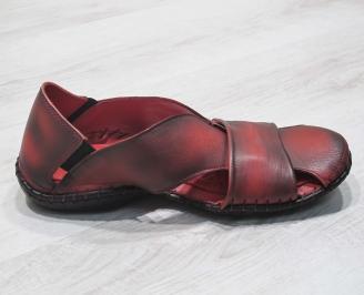 Мъжки чехли естествена кожа  червени FFSZ-24830