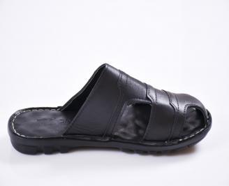 c773cdd8180 Мъжки чехли естествена кожа черни HYNW-27443 - Чехли и сандали