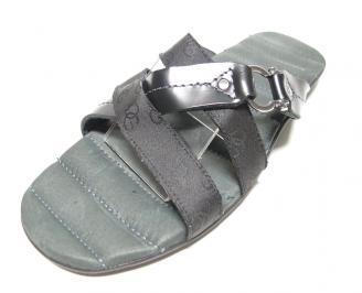 Мъжки чехли естествена кожа черна JPBR-13645
