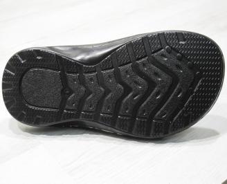 Мъжки чехли -Гигант естествена кожа черни HWXZ-24140