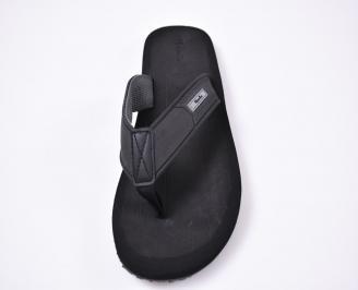 Мъжки джапанки еко кожа черни UCOD-1012523
