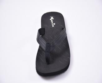 Мъжки джапанки еко кожа черни DSSS-1012535