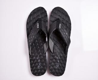 Мъжки джапанки еко кожа черни TFHX-27887