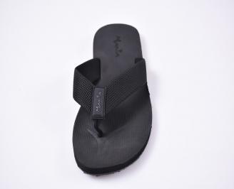 Мъжки джапанки текстил черни SXTK-1012511