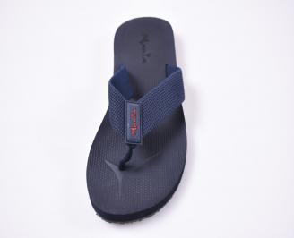 Мъжки джапанки текстил сини QFLX-1012514