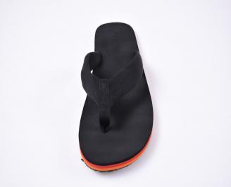 Мъжки джапанки текстил черни HJMP-1012522