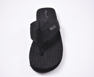 Мъжки джапанки текстил черни RGQU-1012524