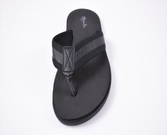 Мъжки джапанки текстил черни KPVZ-1012525