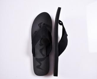 Мъжки джапанки текстил черни GDRQ-27879