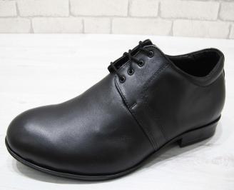 Мъжки  елегантни обувки -Гигант естествена кожа черни SKQA-23084