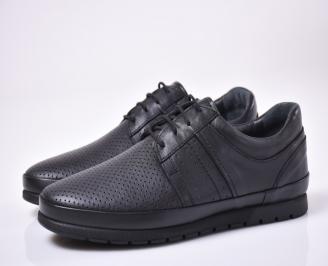 Мъжки ежедневки обувки естествена кожа сини SIKL-1013854