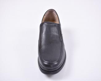 Мъжки ежедневни обувки естествена кожа черни HFBB-1011082