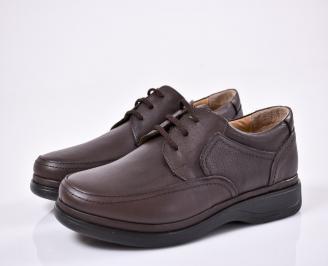 Мъжки ежедневни обувки естествена кожа кафяви MXTS-1011085