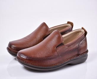Мъжки ежедневни обувки естествена кожа кафяви HARC-1011090