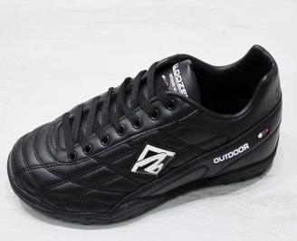 Мъжки футболни обувки Bulldozer от еко кожа черни KURU-23196