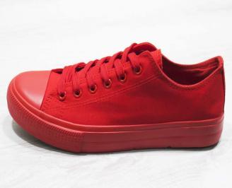 Мъжки  гуменки Bulldozer  текстил червени HCBA-25109