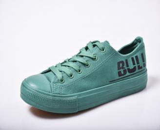 Мъжки гуменки зелени текстил BWIU-1010154